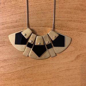 Madewell gold and black necklace